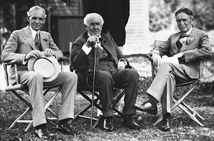 Harvey Firestone Thomas Edison Henry Ford