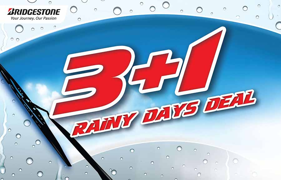 Conquer the rainy season with Bridgestone's 3+1 Rainy Days Deal