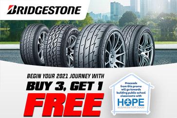 Buy 3 Get 1 Free, Bridgestone Recover Together Promo