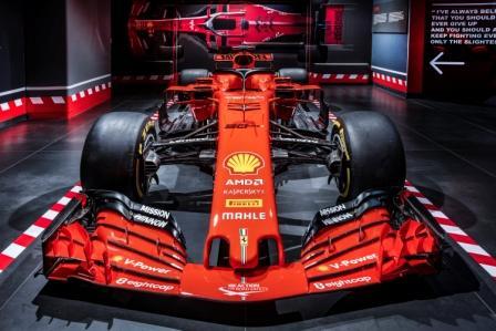 2018 Ferrari SF71H driven by Sebastian Vettel