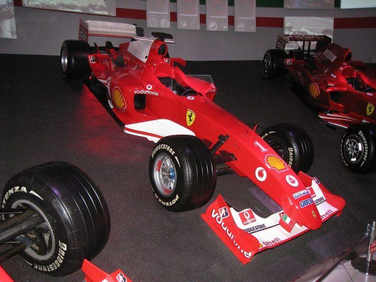 Championship-winning Ferrari F2004 of Michael Schumacher using Bridgestone Tires