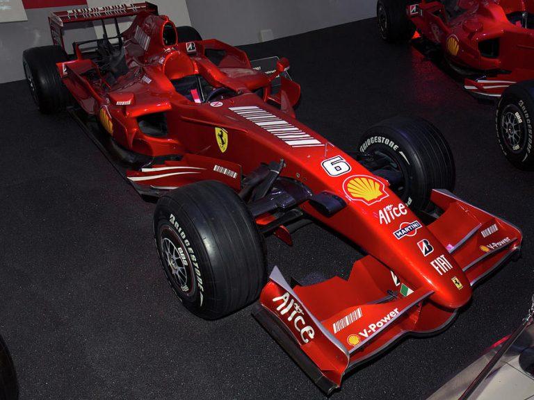 Ferrari F2007 driven by Kimi Räikkönen using Bridgestone Tires