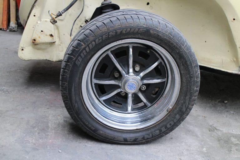 Left front wheel