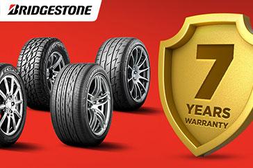 Bridgestone offers hassle-free tire maintenance on their Warranty Program
