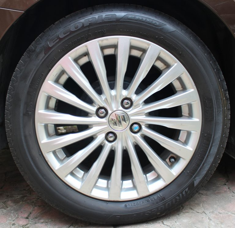 Bridgestone Ecopia EP-150 195/55R-16 mounted on our 2016 Suzuki Ciaz GLX AT