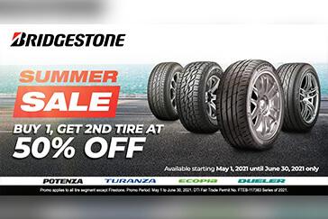 Bridgestone Philippines Summer Sale