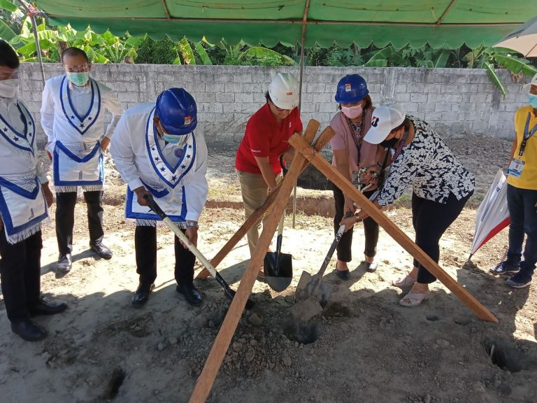 … after which, the participants ceremoniously covered the hole with soil.